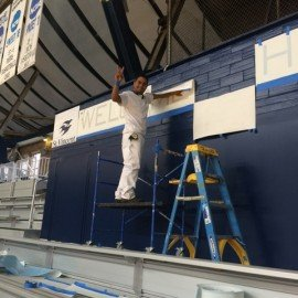Interior Commercial Painting At Hinkle Fieldhouse Connor Fine Painting
