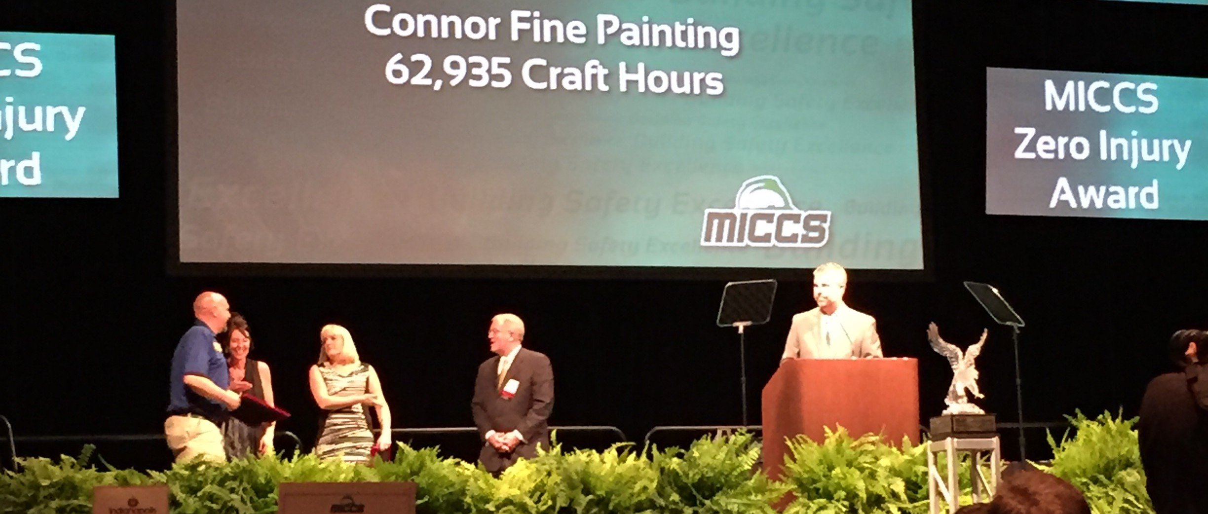 <h2>Connor Wins MICCS Zero Injury Award</h2> <p>Connor Fine Painting is the only MICCS Certified Zero Injury commercial painting contractor in greater Indianapolis.</p>